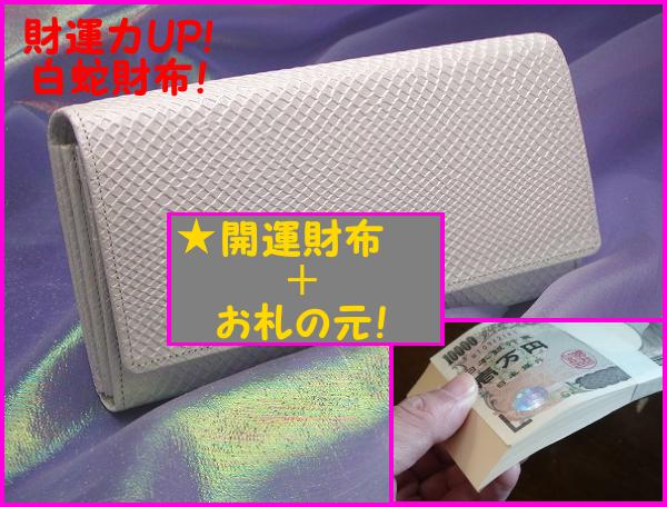 白蛇の開運財布とお札の元のセット