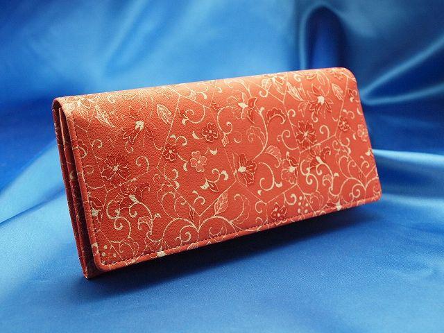 友禅染ピンクの財布