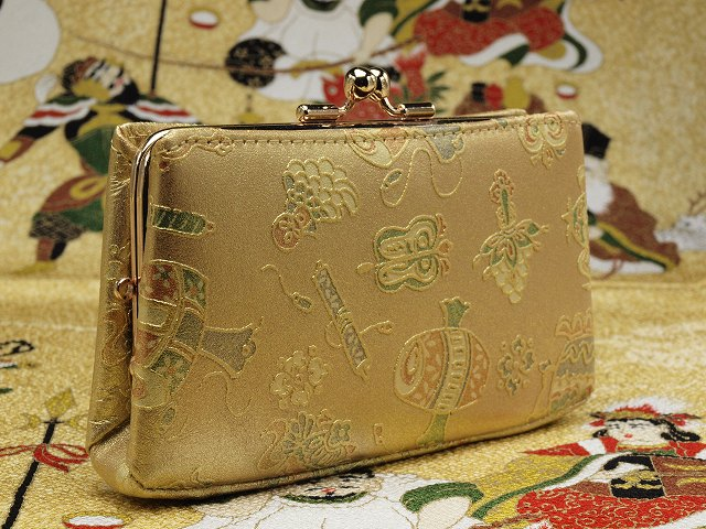 金のがま口財布